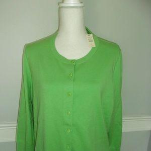 Green 3X Talbots Cardigan Sweater